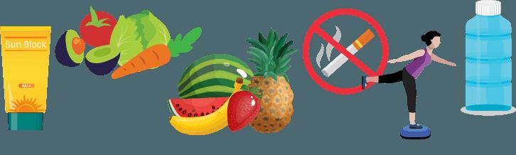 Imágenes íconos saludables
