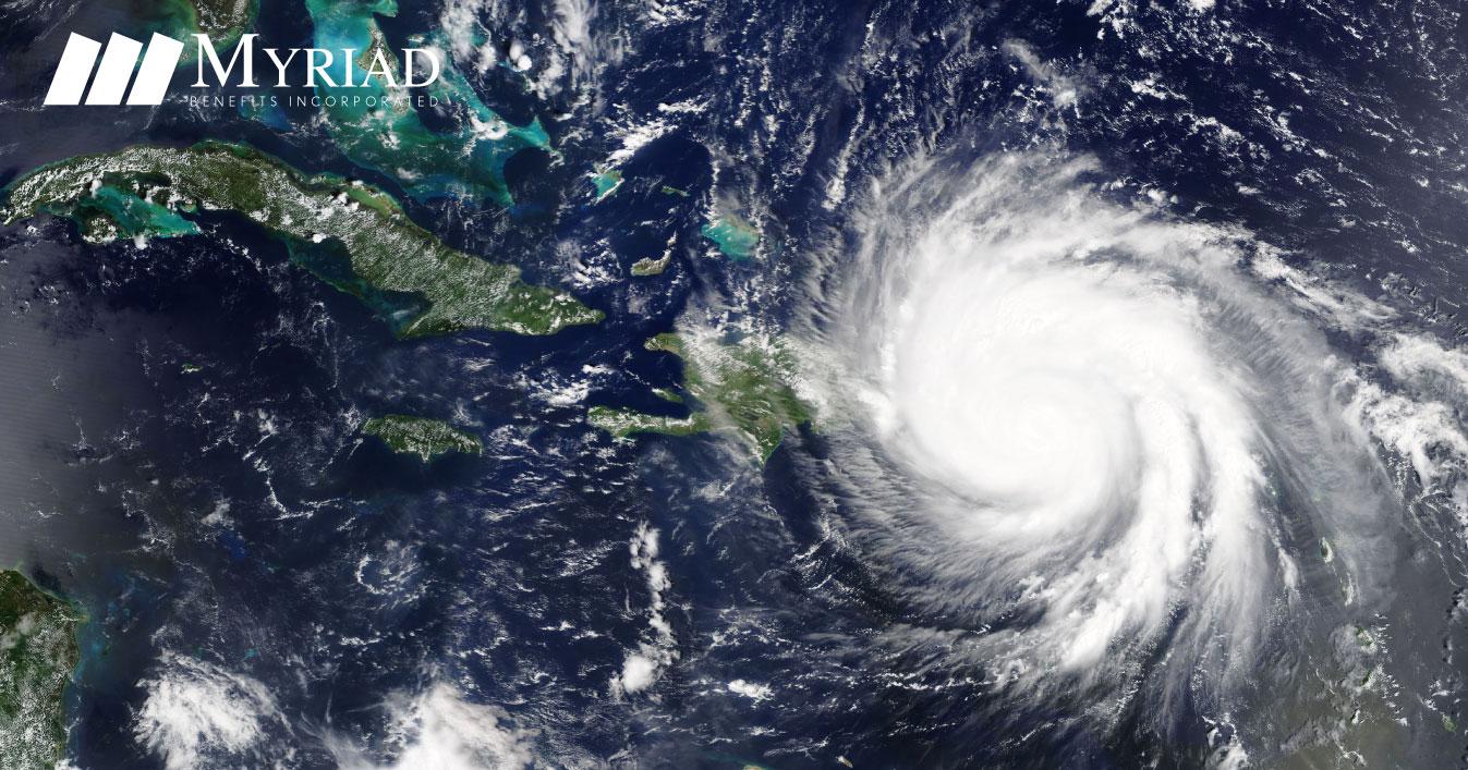 Imagen de Satélite de Huracán sobre Puerto Rico