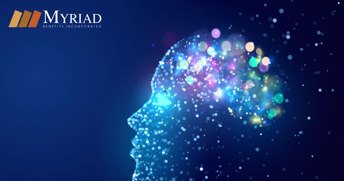 Ilustración del cerebro y la memoria
